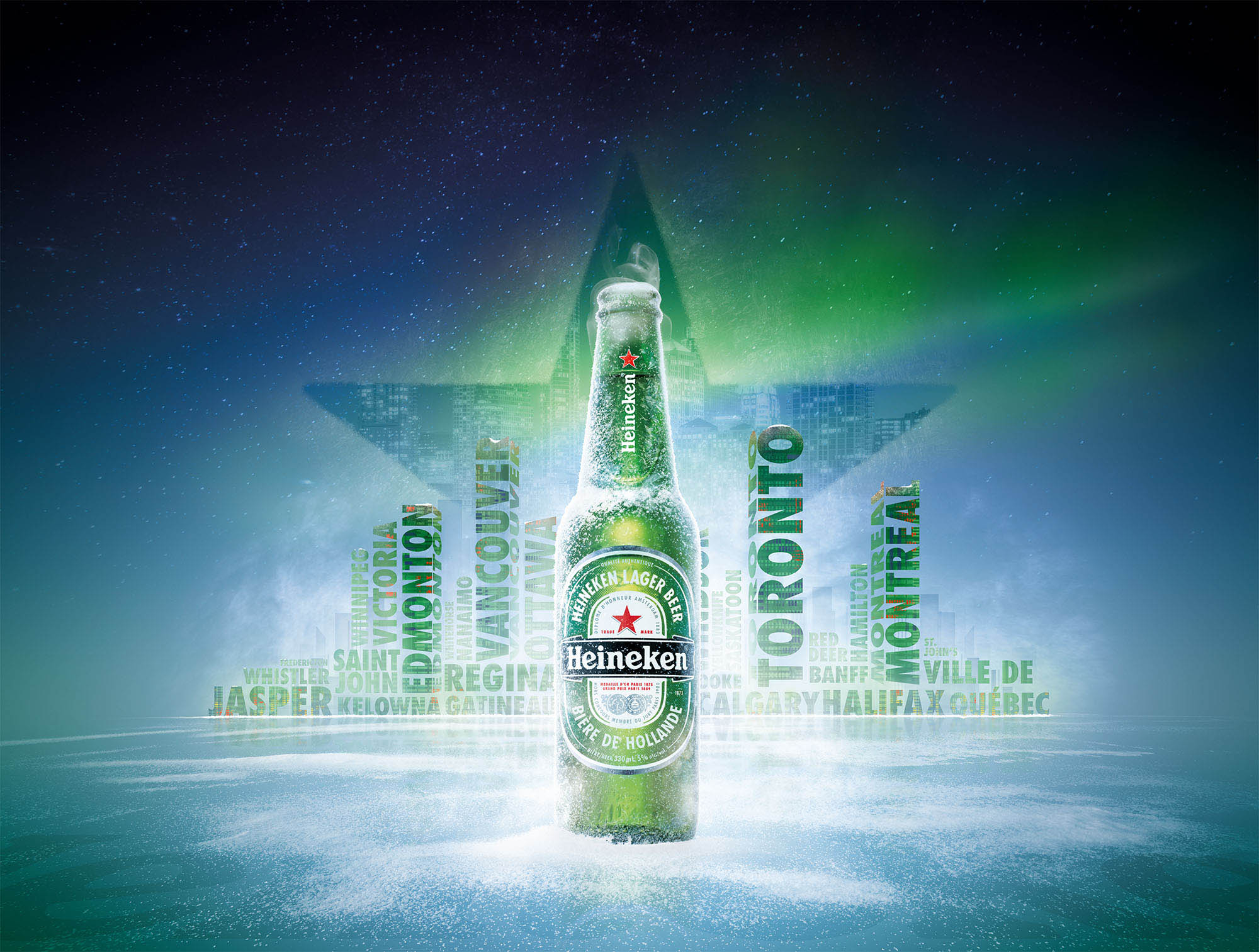 Heineken Cities Bottle